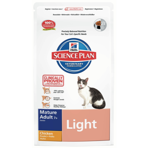 Hills Science Plan Feline Mature Adult 7+ Light Chicken