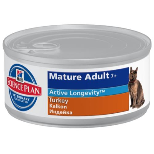 Hills Science Plan Feline Mature Adult 7+ Canned Turkey