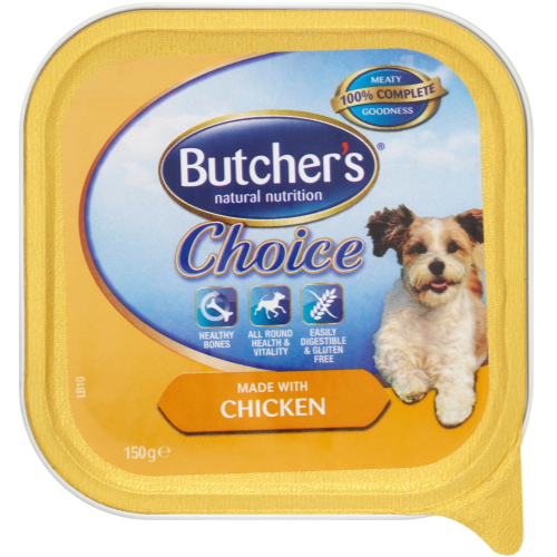 Butchers Choice made with Chicken Dog Food