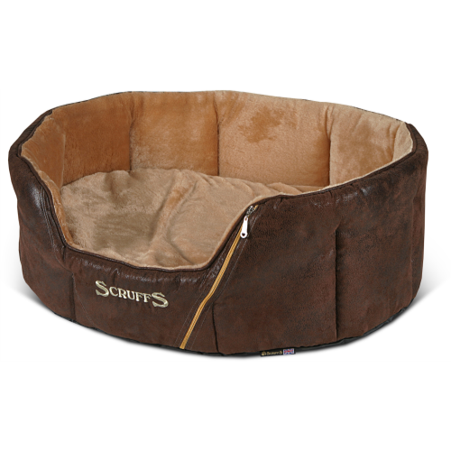 Scruffs Ranger Donut Snuggle Dog Bed Brown 76x64x26cm