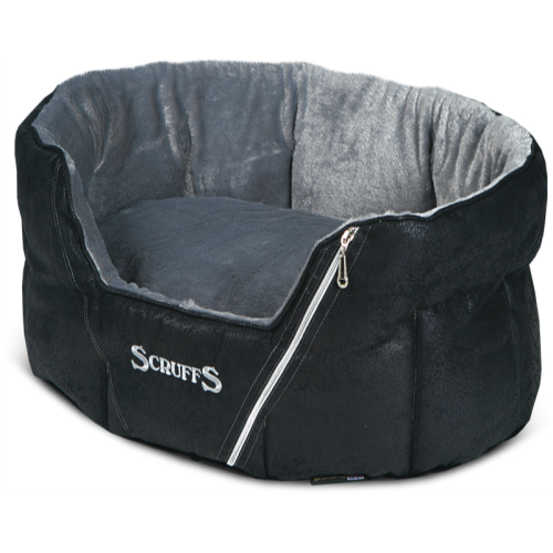 Scruffs Ranger Donut Snuggle Dog Bed Black 46x36x20cm