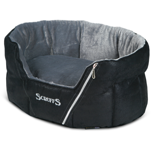 Scruffs Ranger Donut Snuggle Dog Bed Black 61x46x23cm