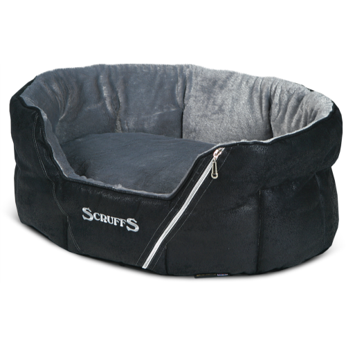 Scruffs Ranger Donut Snuggle Dog Bed Black 76x64x26cm