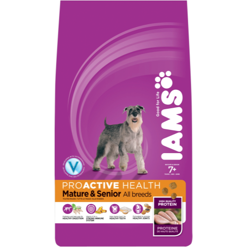 IAMS Chicken All Breeds Senior & Mature Dog Food 12kg