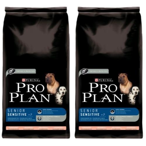 PRO PLAN Salmon & Rice Sensitive Skin Senior 7+ Dog Food