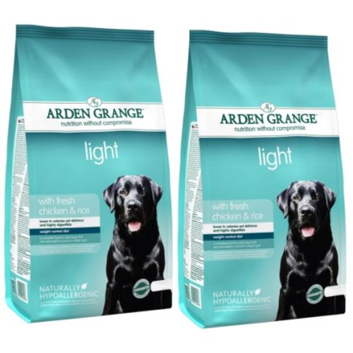 Arden Grange Light Adult Dog Food 12kg x 2