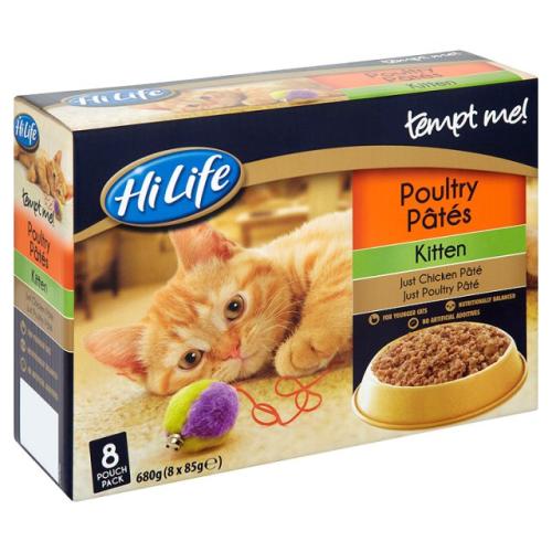 Tempt Me Cat Pouch Kitten Poultry Pate