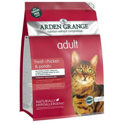 Arden Grange Chicken & Potato Cereal Free Adult Cat Food 400g