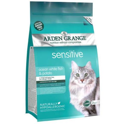 Arden Grange Sensitive Ocean Fish & Potato Adult Cat Food 2kg