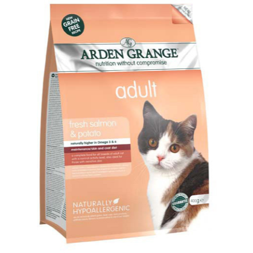 Arden Grange Salmon & Potato Cereal Free Adult Cat Food 400g