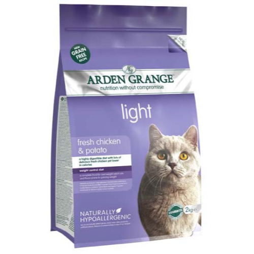 Arden Grange Light Chicken & Potato Adult Cat Food 4kg x 2