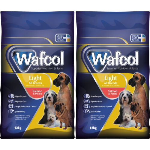 Wafcol Salmon & Potato Light Dog Food 12kg x 2