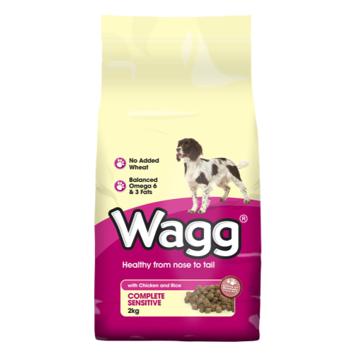 Wagg Complete Sensitive Chicken & Rice 12kg x 2