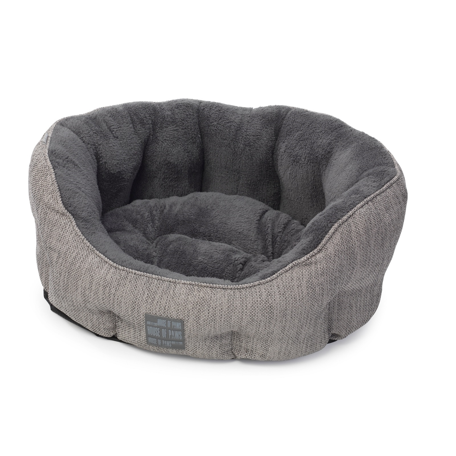 house of paws grey hessian dog bed from. Black Bedroom Furniture Sets. Home Design Ideas