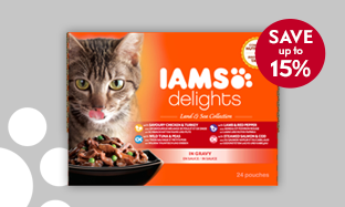 Save on IAMS cat food