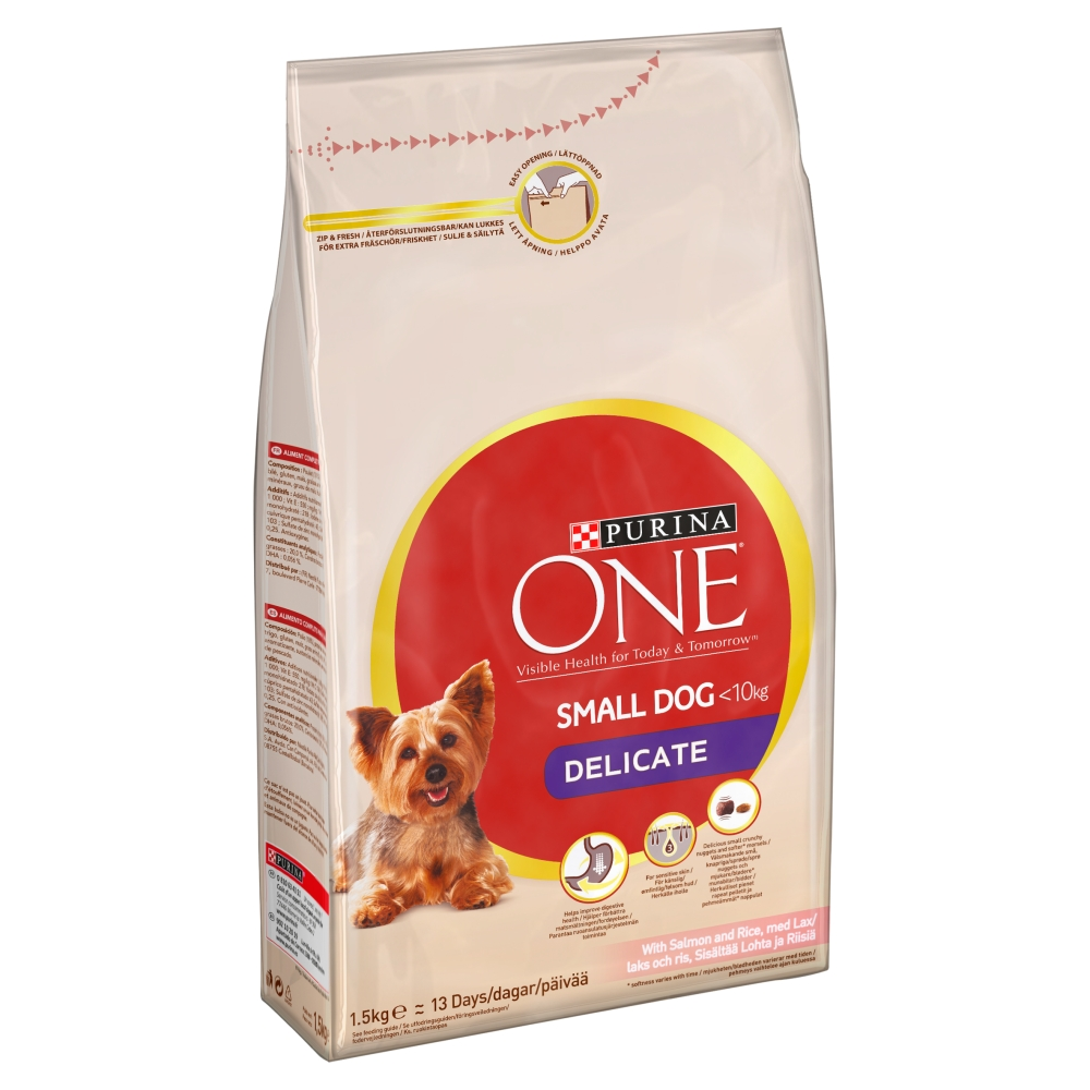 Purina One Delicate Salmon Rice Small Adult Dog Food 15kg