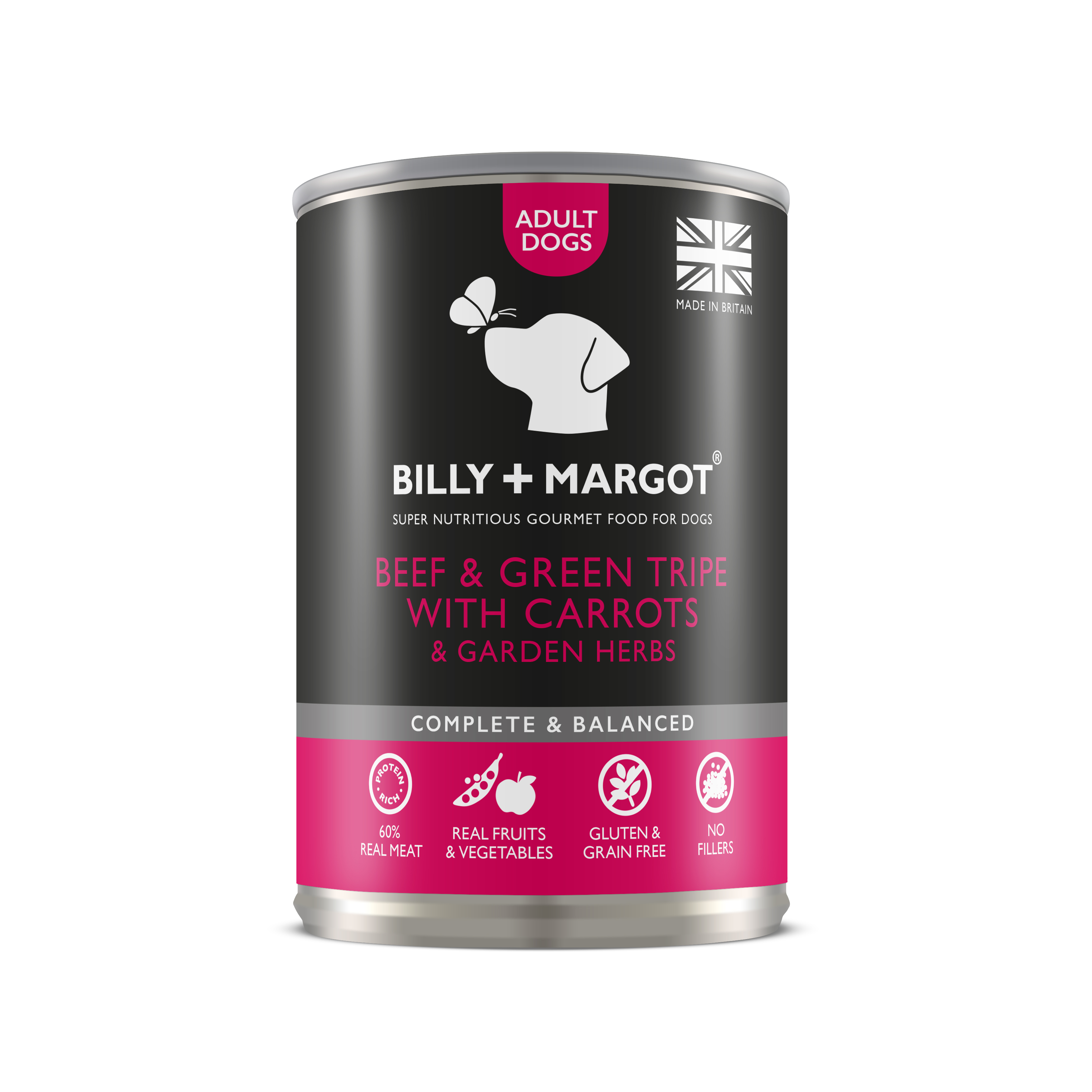 Billy & Margot Beef & Tripe Complete Adult Dog Food 395g x 12