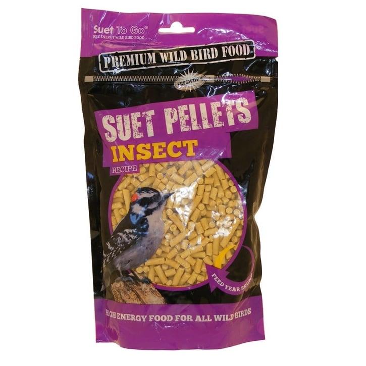 Suet to Go Premium Suet Insect Pellets Wild Bird Food 550g