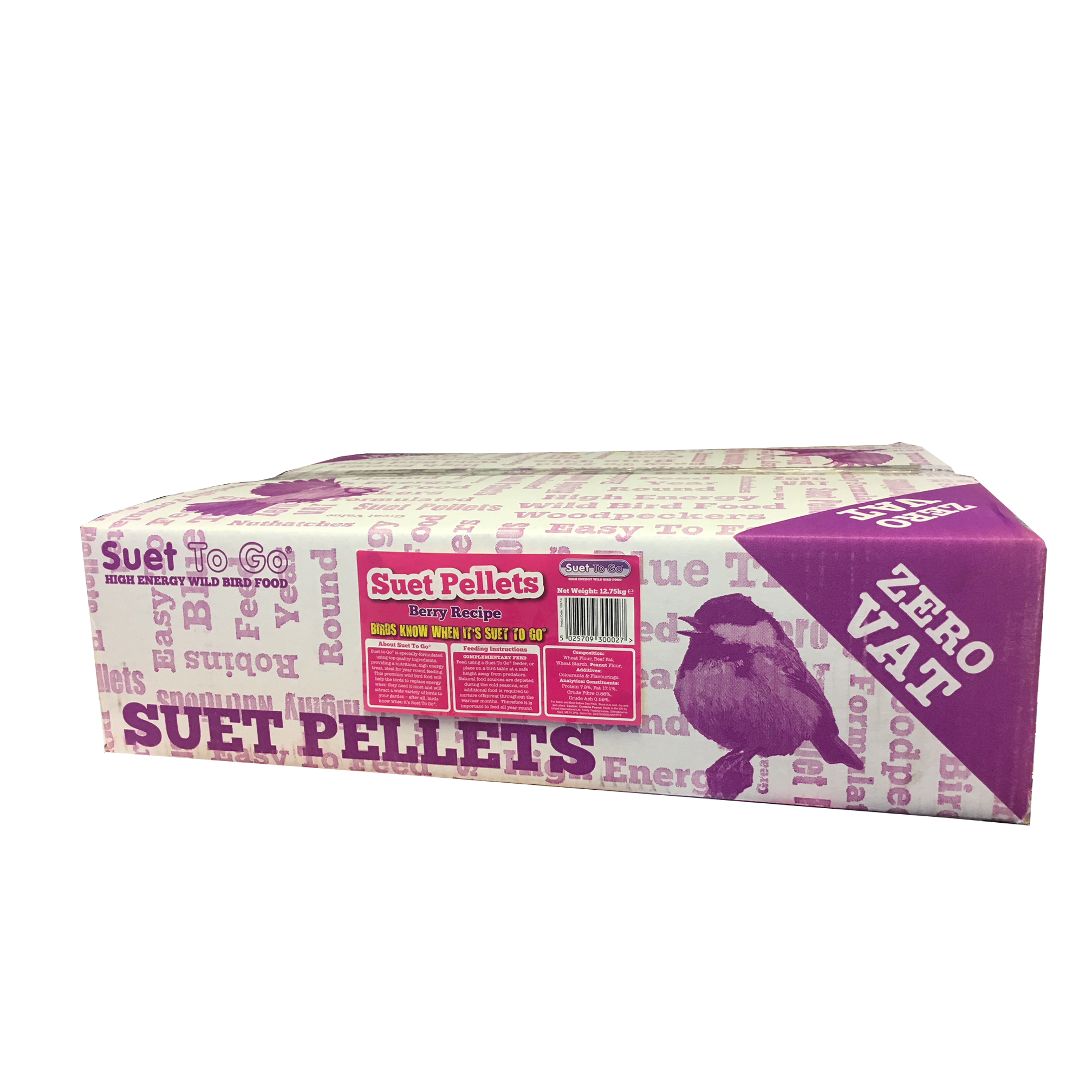 Suet to Go Premium Suet Berry Pellets Wild Bird Food 12.75kg