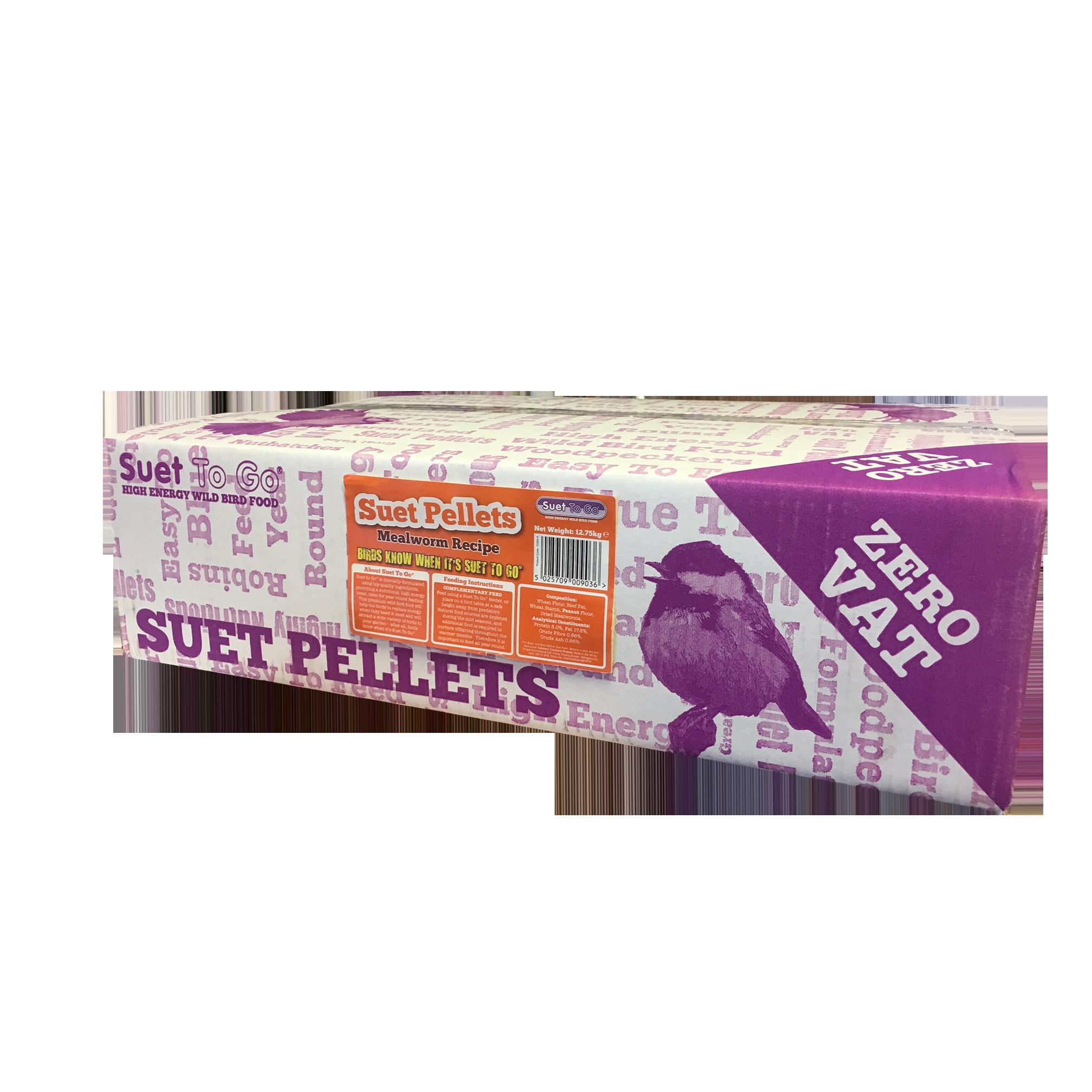 Suet to Go Premium Suet Mealworm Pellets Wild Bird Food 12.75kg