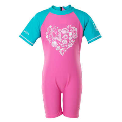 Girls Sea Heart Sunsuit (5-10)
