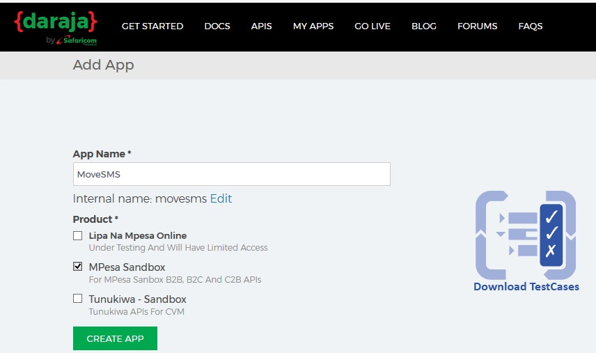 mpesa integration to website