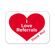 "Picture for manufacturer ""I Love Referrals"" Labels"