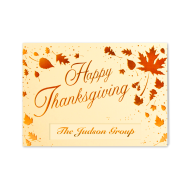 Picture for manufacturer Scattered Thanksgiving Leaves Greeting Card