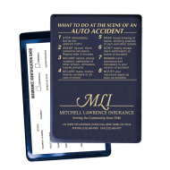 "Picture of ""At The Scene"" Insurance Card Holder - Personalized"