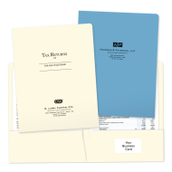 Picture of Printed Tax Return Pocket Folders
