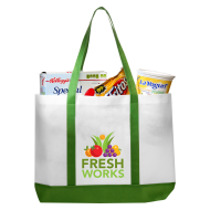 Picture for manufacturer Non-Woven Tote Bag with Trim Colors - 18 x 14 x 3.5
