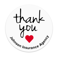 Picture of Thank You Label with Heart