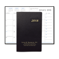 Picture of Leatherette Monthly Pocket Planner