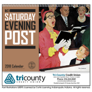Picture for manufacturer The Saturday Evening Post Big Block Memo Wall Calendar