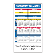 Picture for manufacturer Calendar Magnet - Emergency Numbers