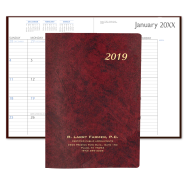 Picture for manufacturer Leatherette Monthly Desk Planner