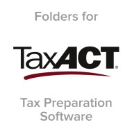 Picture for manufacturer TaxAct® Compatible Tax Folders