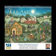 Picture for manufacturer Folk Art Wall Calendar - Spiral