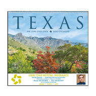Picture for manufacturer Texas State Wall Calendar - Spiral