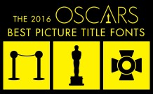 2016 Oscar Movie Poster Fonts