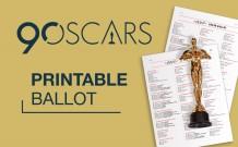 Printable 2018 Oscar Ballot