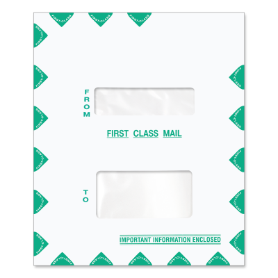 Picture of 9.5 x 11.5 Double Window Tax Software Envelope