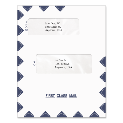 Picture of 9.5 x 12 Offset Window Tax Software Envelope