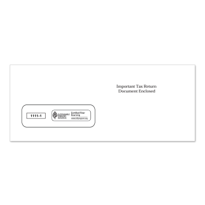 Picture of 3-Up 1099 Single Window Envelope (1111)