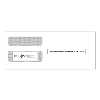 Picture of 3-Up 1099 Double Window Envelope (8888)
