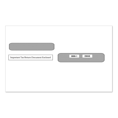 Picture of 4-Up W-2 Double Window Envelope Ver. 1 (9999)