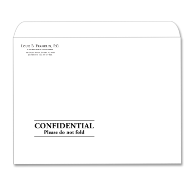 Picture of Designer Tax Return Envelope (Confidential)