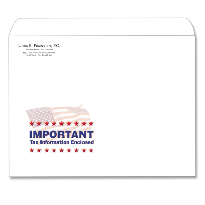Picture of Designer Tax Return Envelope (Flag Important)
