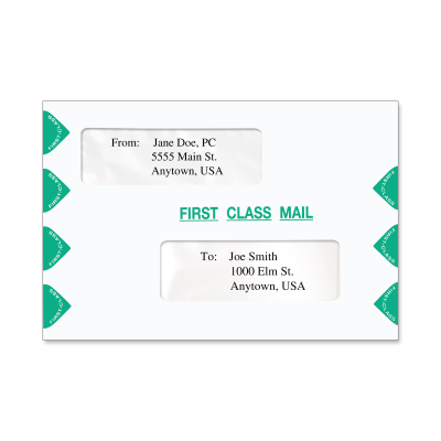 Picture of 6 x 9 Double Window Tax Slip Sheet Envelope