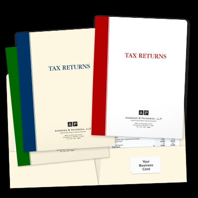 Picture of Designer Tax Return Folders (Bold Stripe)